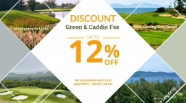 Discount 10% On Green & Caddie Fee